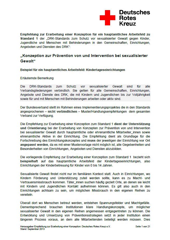 Prävention Sexualisierter Gewalt Drk Landesverband Hessen E V